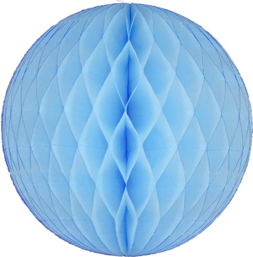 Light Blue Honeycomb Ball (12 pcs)