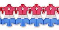 12 Foot Patriotic Bell Garland (12 pcs)