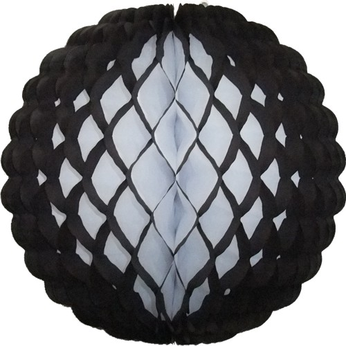 14 Inch Puff Ball Black (12 pcs)