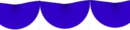 Blue 10 Foot Bunting Fan Garland (12 pcs)