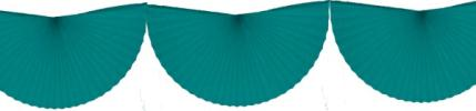 Teal 10 Foot Bunting Fan Garland (12 pcs)