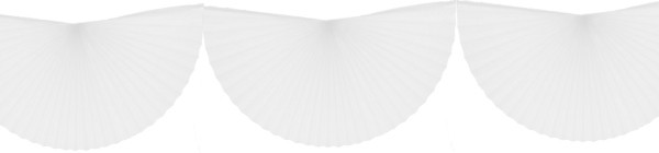 white 10 Foot Bunting Fan Garland (12 pcs)