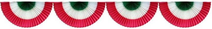 10 Foot Tissue Paper Fan Garland (Bunting)(12 pcs)