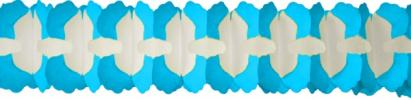 12 Foot X Leaf Garland Decoration turquoise (12 pcs)