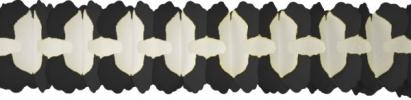 12 Foot Cross Garland Decoration Black (12 pcs)