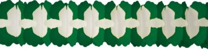 12 Foot Cross Garland Decoration Dark Green (12 pcs)
