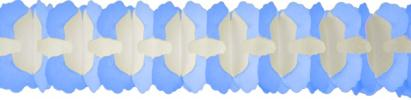 12 Foot Cross Garland Decoration Light Blue (12 pcs)