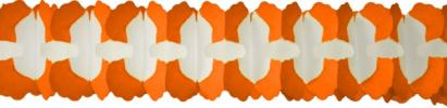 12 Foot Cross Garland Decoration Orange (12 pcs)