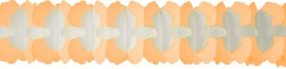 12 Foot Cross Garland Decoration Peach (12 pcs)