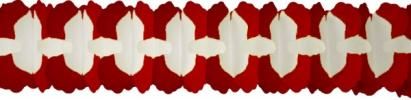 12 Red Cross Garland Decoration (12 pcs)