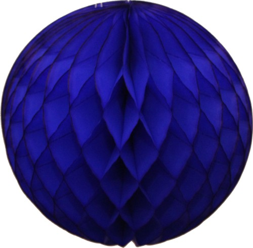 Dark Blue Honeycomb Tissue Ball (12 pcs)