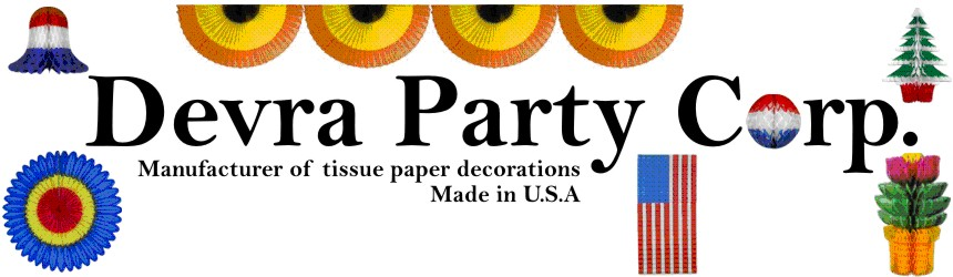 DEVRA LOGO, Manufacturer of paper decoration, made in USA