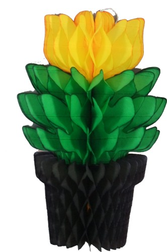 15 Inch Black/Green/Gold Tissue Flowerpot (12 pcs)