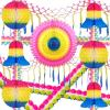 Party Decoration Kit - 13 Pieces - Multi Rainbow Theme