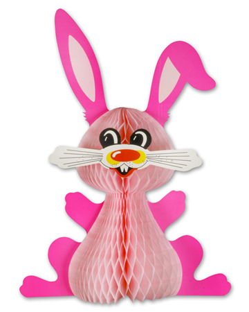 15 Inch Honeycomb Bunny Decoration (12 pcs)