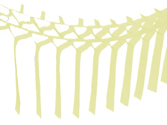 Ivory Streamer Garland Decoration (12 pcs)