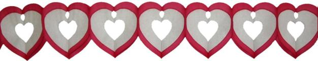 6 Foot Tissue Heart Garland (12 pcs)