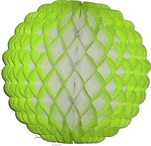 14 Inch Puff Ball lime green (12 pcs)