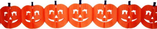 12 Foot Tissue Paper Pumpkin Garland (12 pcs)