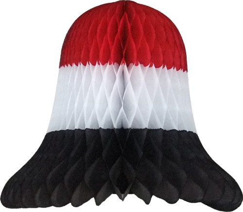 Red White Black Party Bell Decoration (12 Pieces)