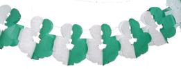 12 Foot Tissue Paper Shamrock Garland (12 pcs)