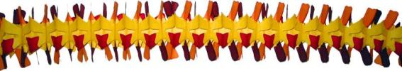 12 Foot Fall Colored Spider Fringe Garland (12 pcs)